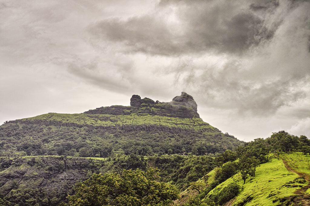 Irshalgad plateau and pinnacle